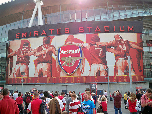 The emirates library sshhhhhh for Emirates stadium mural