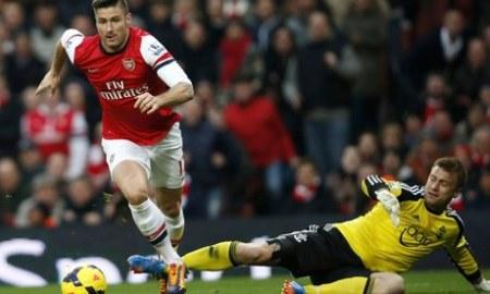 Olivier Giroud Arsenal Artur Boruc Southampton