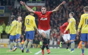 An understated goal celebration.