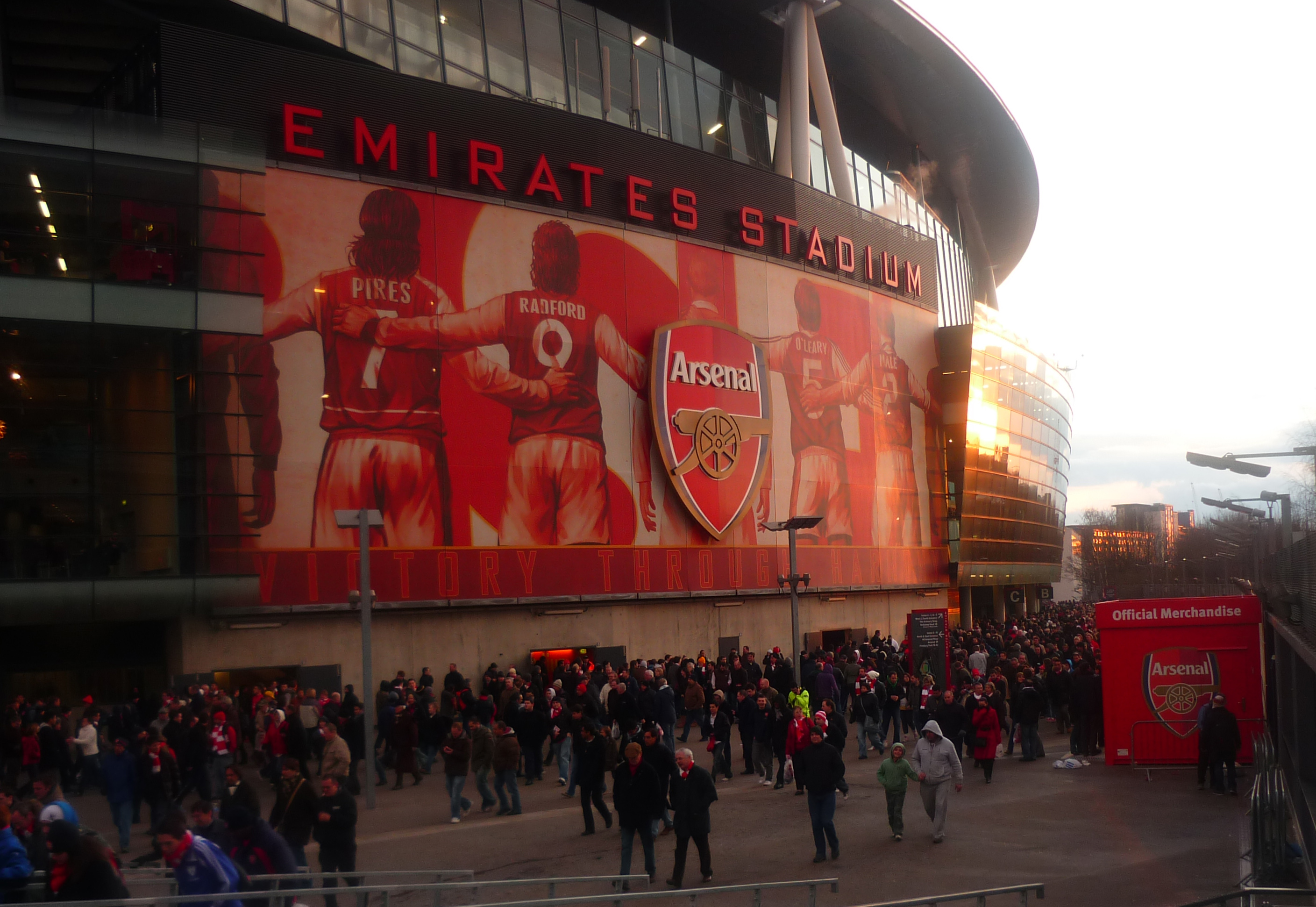 The emirates stadium for Arsenal mural emirates