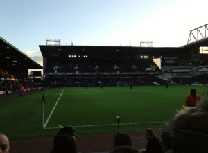View from the away end